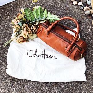 Cole Haan Whiskey Brown Sausage Satchel Bag